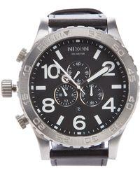 Nixon - Chrono Leather Watch - Lyst