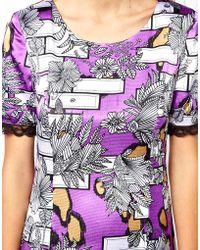 Olivia Rubin - Fitted Short Sleeve Mini Dress - Lyst