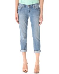 Paige James Cropped Jeans - Lyst