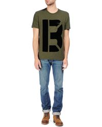 Rag & Bone Alphabet Pocket Tee Olive Flame Cotton - Lyst