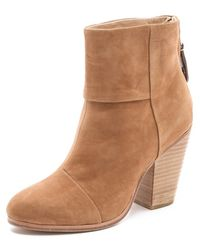 Rag & Bone Classic Newbury Booties in Nubuck - Lyst