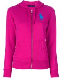 Ralph Lauren Blue Label - Zip Through Hooded Sweatshirt - Lyst