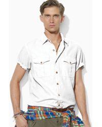 Ralph Lauren Polo Short-sleeved Woven Military Safari Shirt - Lyst