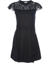 RED Valentino Lace Overlay Dress - Lyst