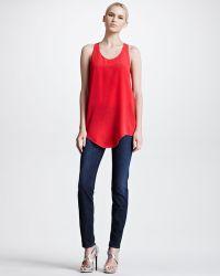 Roberto Cavalli Slash-pocket Skinny Jeans - Lyst