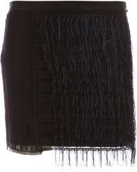 Sharon Wauchob - Embroidered Fringe Skirt - Lyst