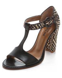 Studio Pollini Raffia High Heel Sandals - Lyst
