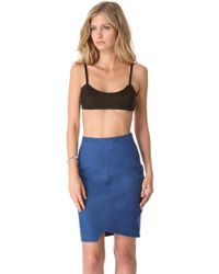 Tess Giberson - Leather Bandeau Top - Lyst