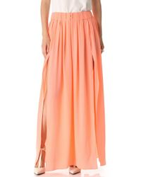 Thakoon Addition - Slit Front Maxi Skirt - Lyst
