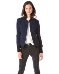 Thakoon - Wool Jacket with Ribbed Trim - Lyst