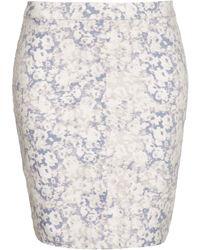 Topshop Moto Blossom Print Mini Skirt - Lyst