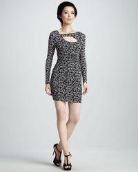 Tracy Reese - Asymmetric Keyhole Dress - Lyst