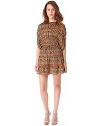 Tucker Gathered Panel Mini Dress - Lyst