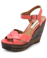 Twelfth Street by Cynthia Vincent Luz Wedge Sandals - Lyst
