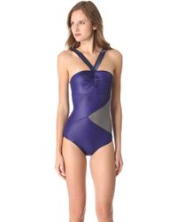 VPL - Glamour Torsion One Piece Swimsuit - Lyst