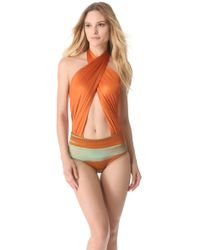 VPL - Print Neo Harness One Piece Swimsuit - Lyst