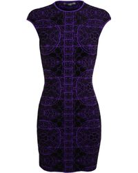 Alexander McQueen Jacquard Stretch Knit Dress - Lyst