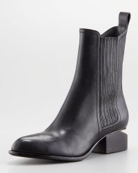 Alexander Wang Anouck Liftheel Chelsea Boot Rose Golden - Lyst