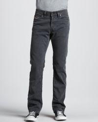 Diesel Viker Straight Gray Jeans 32l - Lyst