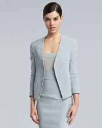Donna Karan New York Trompe Loeil-Collar Jacket - Lyst