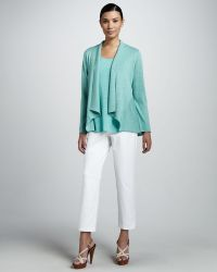 Eileen Fisher Slim Twill Ankle Pants - Lyst