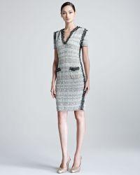 ESCADA Selia Shortsleeve Knitted Tweed Dress - Lyst