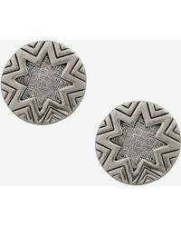 House Of Harlow 1960 Two Tone Engraved Stud Earrings - Lyst