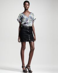 Kelly Wearstler | Microcosm Leathertrim Lace Skirt | Lyst