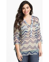 Lucky Brand Terrenea Stripe Blouse - Lyst