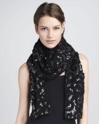 Rachel Zoe - Stretch Sequin Silk Scarf - Lyst