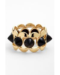 Natasha Couture Goldtone Spike Stretch Bracelet - Lyst