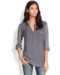 Splendid Brushed Voile Jersey Tunic - Lyst