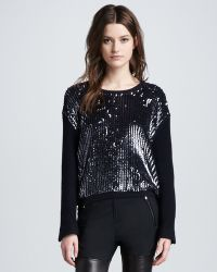 3.1 Phillip Lim Sequined Wool Pullover Sweater - Lyst