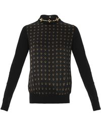 Giles Studprint and Collar Detail Blouse - Lyst