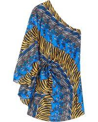Issa Zebra-print Silk Dress - Lyst