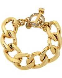 Juicy Couture - Bluxe Gold Plated Cubic Zirconia Bracelet - Lyst