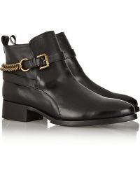 McQ by Alexander McQueen Paddock Chainembellished Leather Ankle Boots - Lyst