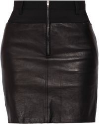 3.1 Phillip Lim Leather Combo Pencil Skirt - Lyst