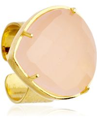 Coralia Leets - Rose Quartz Riveria Ring - Lyst
