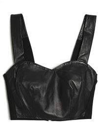 Love Leather - Leather Bustier Top - Lyst