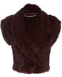 Matthew Williamson Rabbit Fur Shrug - Lyst