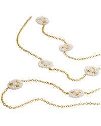 Miguel Ases - White Beaded Necklace - Lyst