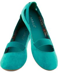 ModCloth Playful Plies Flat in Teal - Lyst