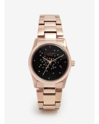 Carat* - Chelsea Rose Gold-tone (black) Watch - Lyst