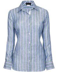 James Lakeland - Linen Shirt - Lyst