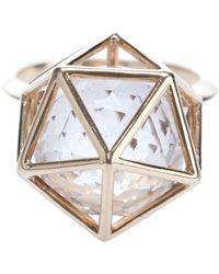Zoe & Morgan - Icosahedron Ring - Lyst