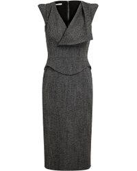 Antonio Berardi Virgin Wool and Alpaca Pencil Dress - Lyst
