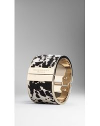 Burberry Animal Print Calfskin Cuff - Lyst