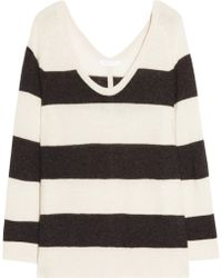 Duffy Striped Cashmere Sweater - Lyst