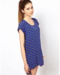 Olivia Rubin | Chain Print Tunic Dress | Lyst